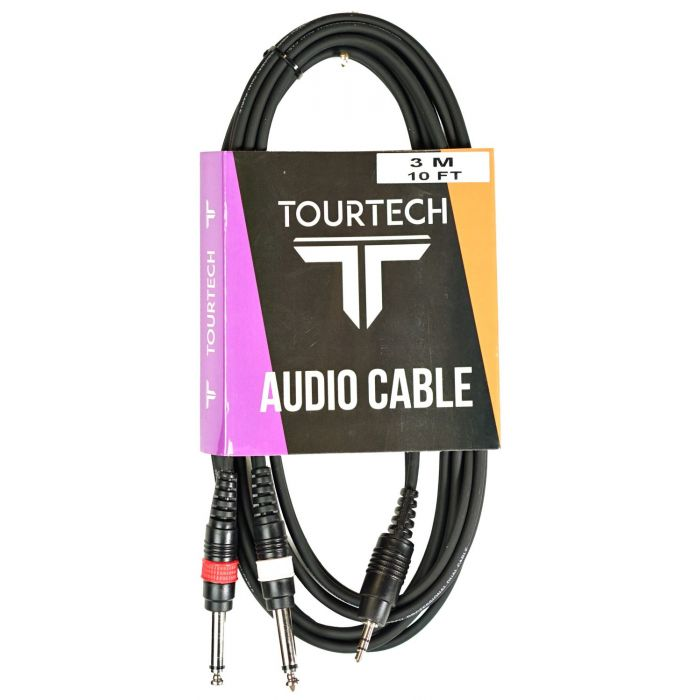 Mini Stereo Jack to Dual Jack Cable in Packaging
