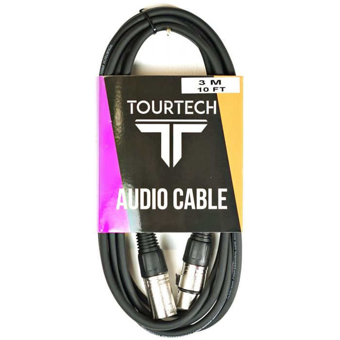 TOURTECH 10ft XLR to XLR Microphone Cable in Packaging