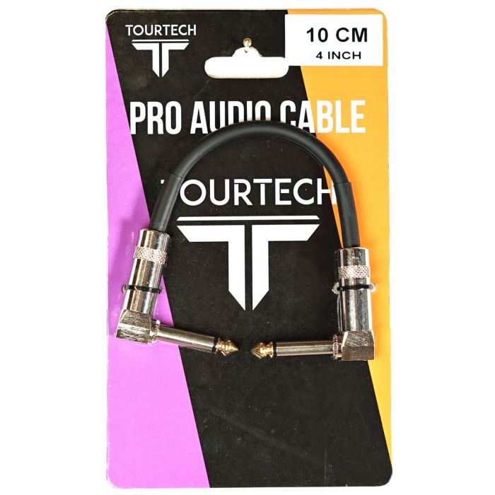 TOURTECH 4 Inch Angled Patch Cable in Packaging