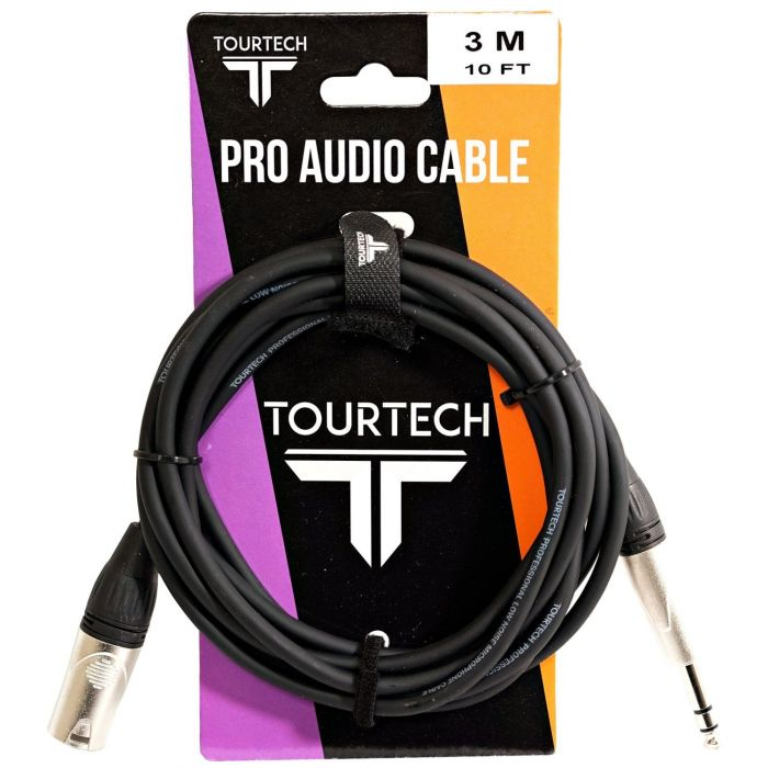 TOURTECH 10ft Jack to XLR Audio Cable Packaging
