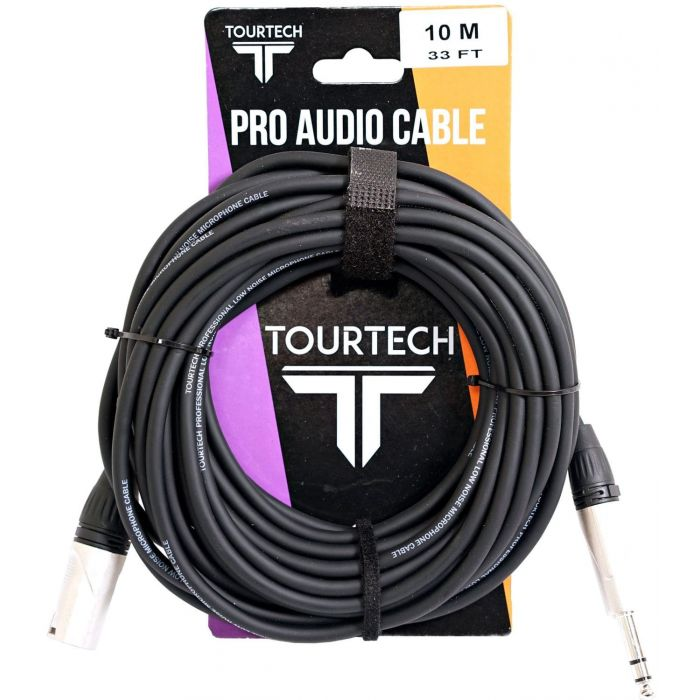 TOURTECH N-Series 33ft Stereo Phone to XLR Audio Cable In Packaging