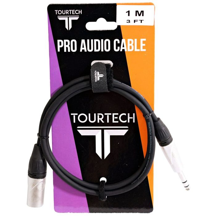 TOURTECH N-Series 3ft Stereo Phone to XLR Audio Cable On Packaging
