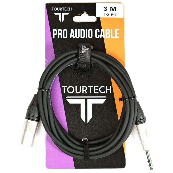 TOURTECH 10ft N-Series Stereo Jack to XLR Audio Cable on Packaging