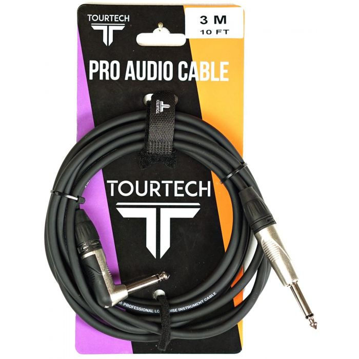 TOURTECH 10ft N-Series Angled Jack to Jack Instrument Cable Packaging