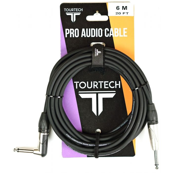 TOURTECH N-Series 20ft Jack to Angled Jack Instrument Cable Packaging