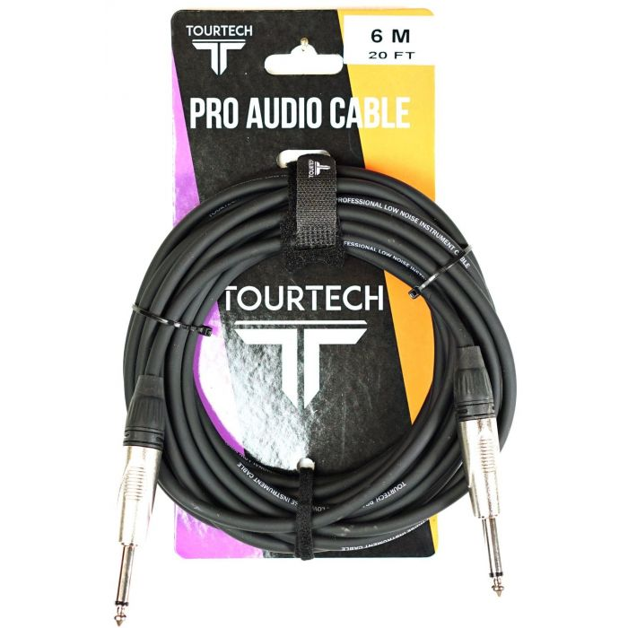 TOURTECH 20ft N-Series Jack to Jack Instrument Cable Packaging