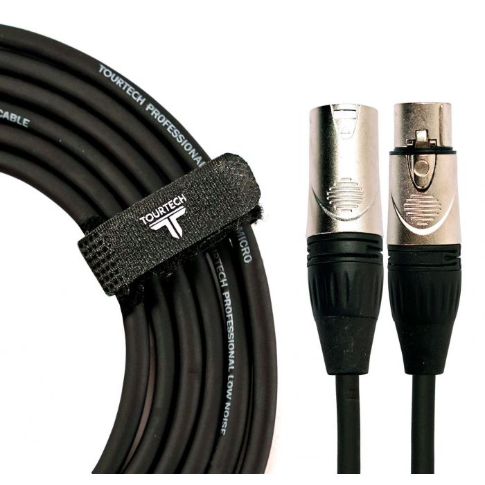 TOURTECH 10m Deluxe XLR to XLR Microphone Cable