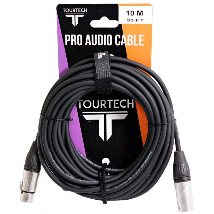 TOURTECH 10m Deluxe XLR to XLR Microphone Cable Packaging