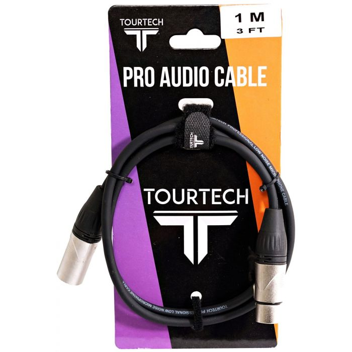 TOURTECH N-Series Deluxe 3ft XLR Microphone Cable Packaging