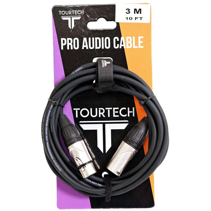 TOURTECH 10ft N-Series XLR to XLR Microphone Cable Packaging
