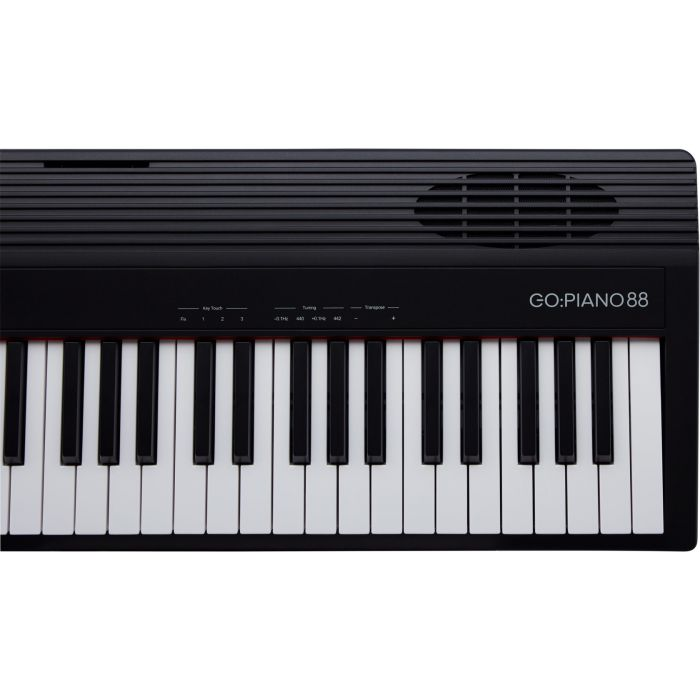 Roland GO:Piano 88 Digital Piano Keyboard Top View, Right Octaves