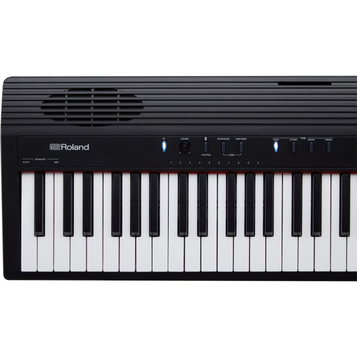 Roland GO:Piano 88 Digital Piano Keyboard Top View, Left Octaves