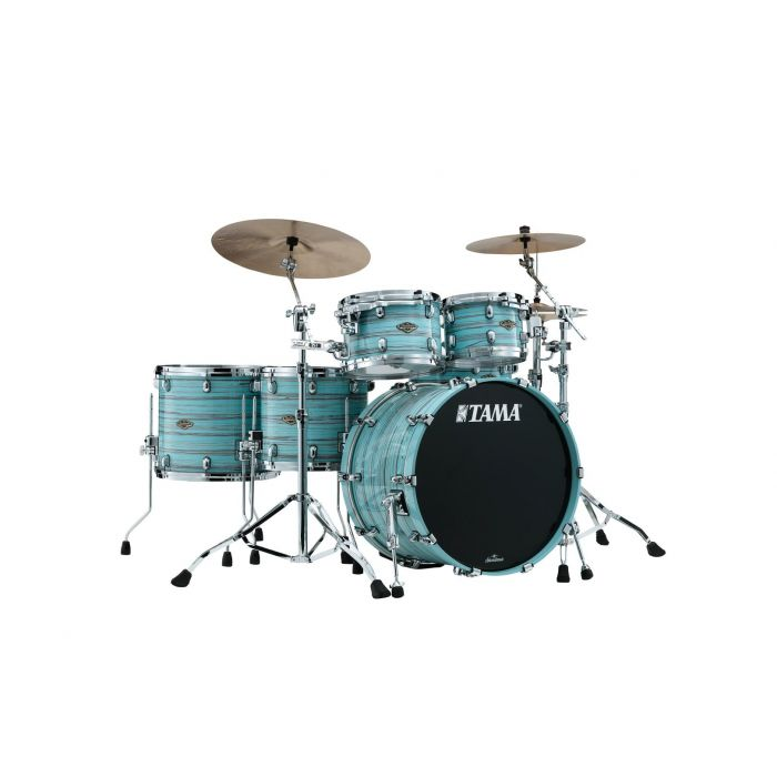 Tama Starclassic Walnut Birch 5pc Drum Shell Pack Lacquer Arctic Blue Oyster