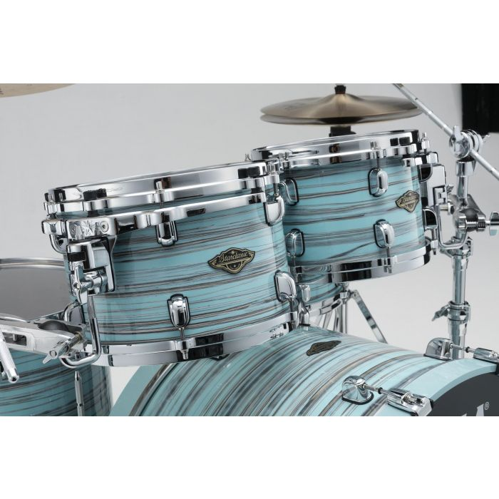 Tama Starclassic Walnut Birch 5pc Drum Shell Pack Lacquer Arctic Blue Oyster Tom