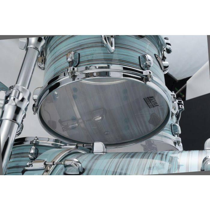 Tama Starclassic Walnut Birch 5pc Drum Shell Pack Lacquer Arctic Blue Oyster Tom Resonant Head