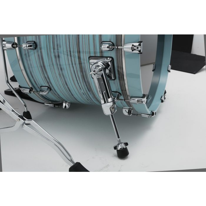 Tama Starclassic Walnut Birch 5pc Drum Shell Pack Lacquer Arctic Blue Oyster Bass Drum Spurs
