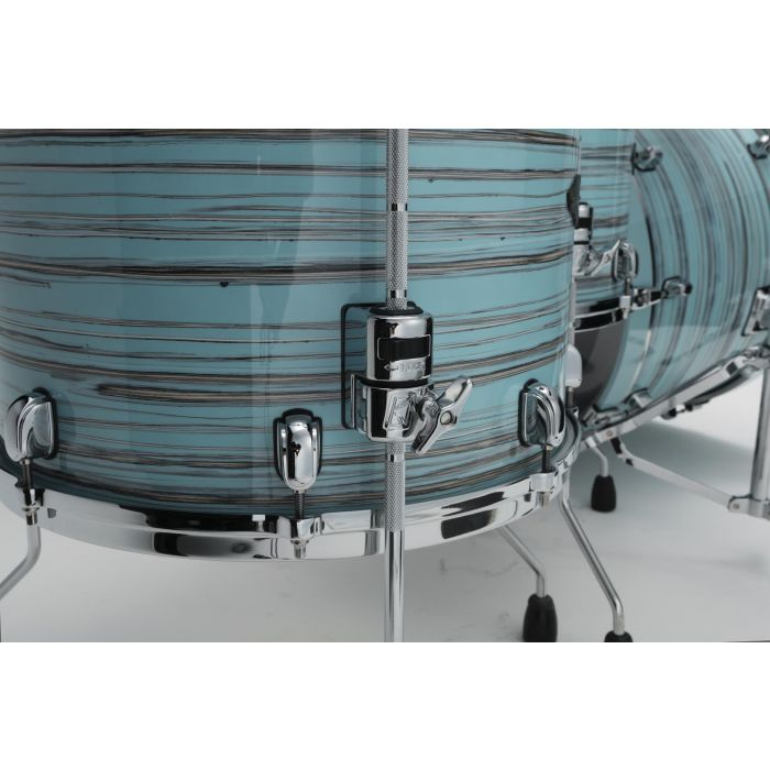 Tama Starclassic Walnut Birch 5pc Drum Shell Pack Lacquer Arctic Blue Oyster Tom Brackets