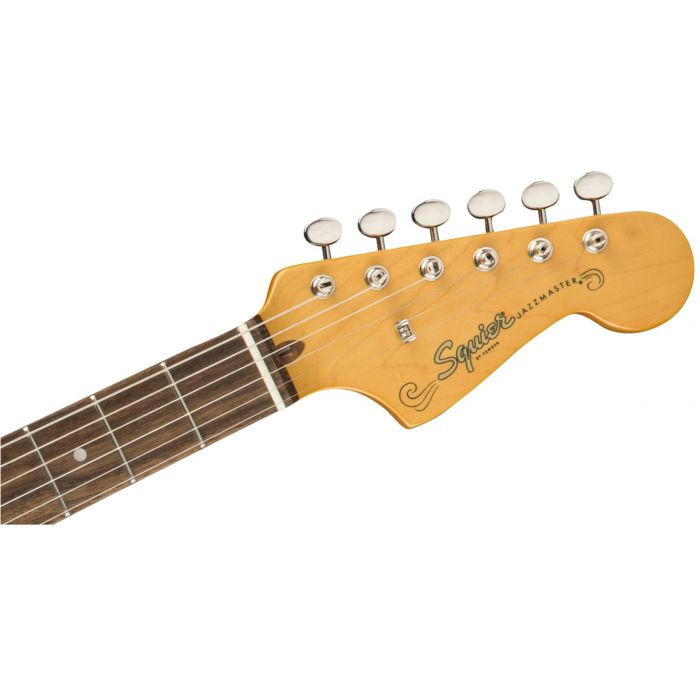 Squier Classic Vibe 60s Jazzmaster IL Olympic White Headstock