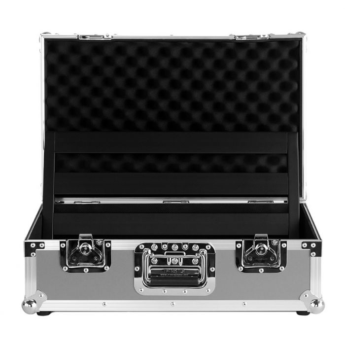 Full view of the open tour case from the Pedaltrain Classic 1 Pedalboard and Case bundle