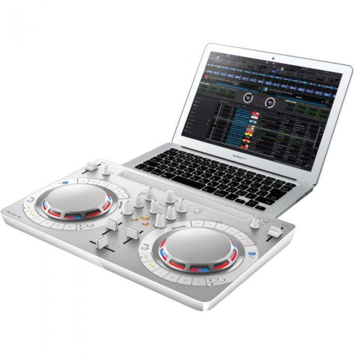 Pioneer DDJ-WeGO4 Portable DJ Controller White with Laptop