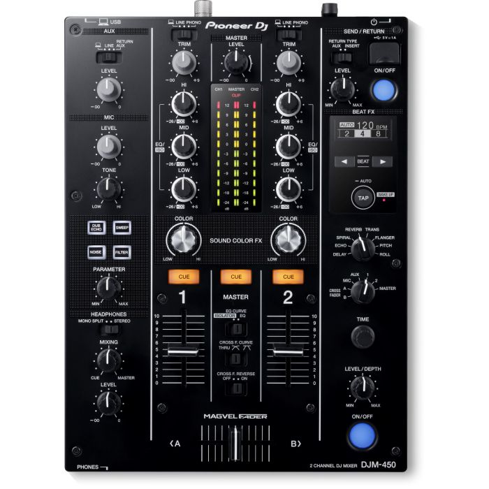 Pioneer DJM-450 2-Channel DJ Mixer Top