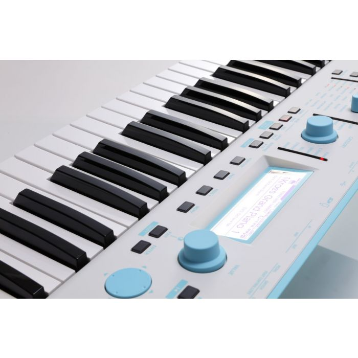 Korg Kross 2 Special Edition Neon Blue Synthesizer Workstation Angle