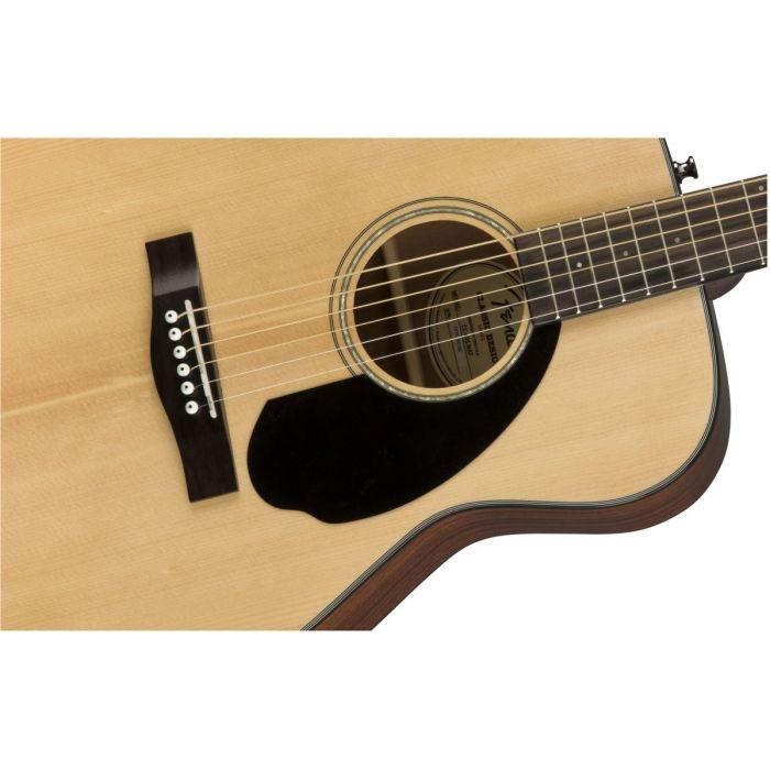 Fender CC-60S Concert Acoustic Guitar WN Natural Body Detail