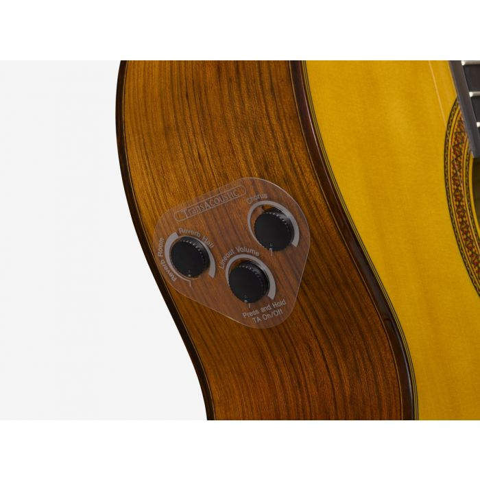Yamaha CG-TA TransAcoustic Classical Guitar Controls