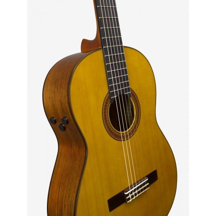 Yamaha CG-TA TransAcoustic Classical Guitar Angle