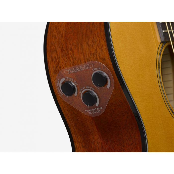 Yamaha CSF-TA TransAcoustic Parlour Guitar Controls