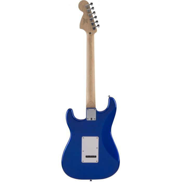 Rear of Blue Squier Affinity Stratocaster Guitar