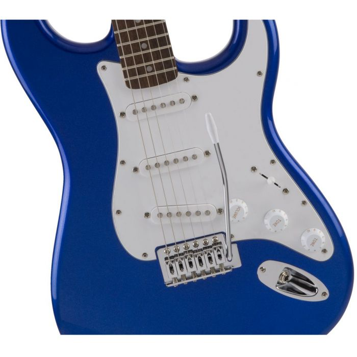 Blue Squier Affinity Stratocaster Guitar Body and Pickups