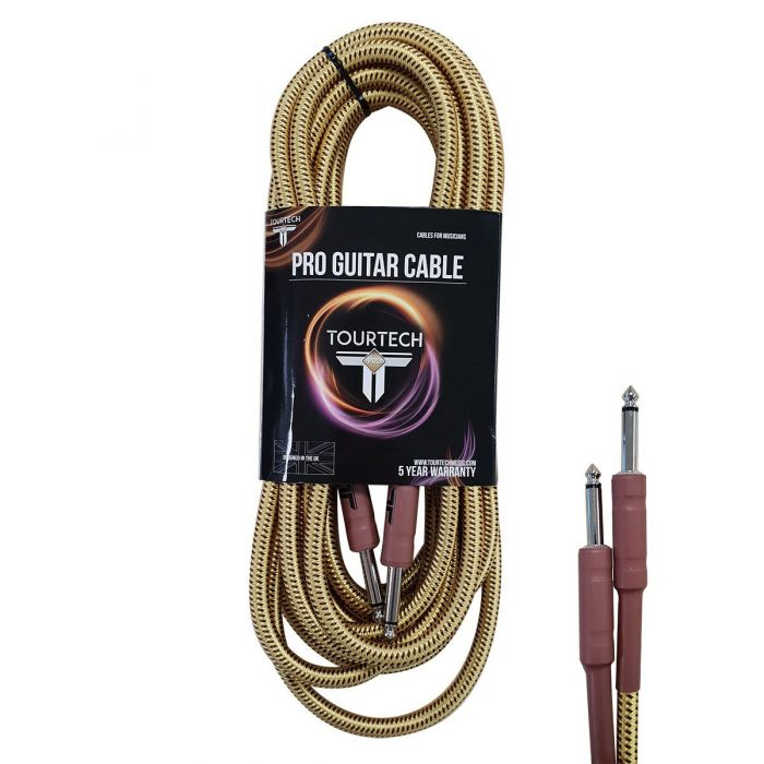TOURTECH Pro Braided Tweed 20ft Guitar Cable