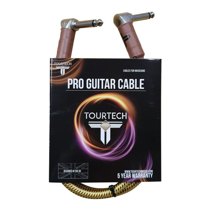 TOURTECH Pro Angled Braided Tweed 2ft Guitar Cable