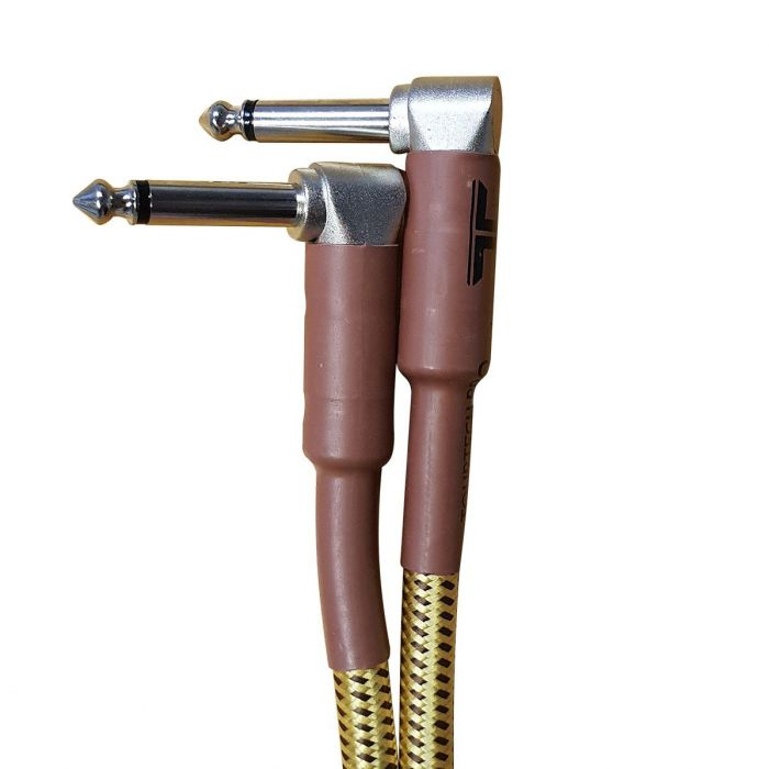 TOURTECH Pro Angled Braided Tweed 2ft Guitar Cable Connectors