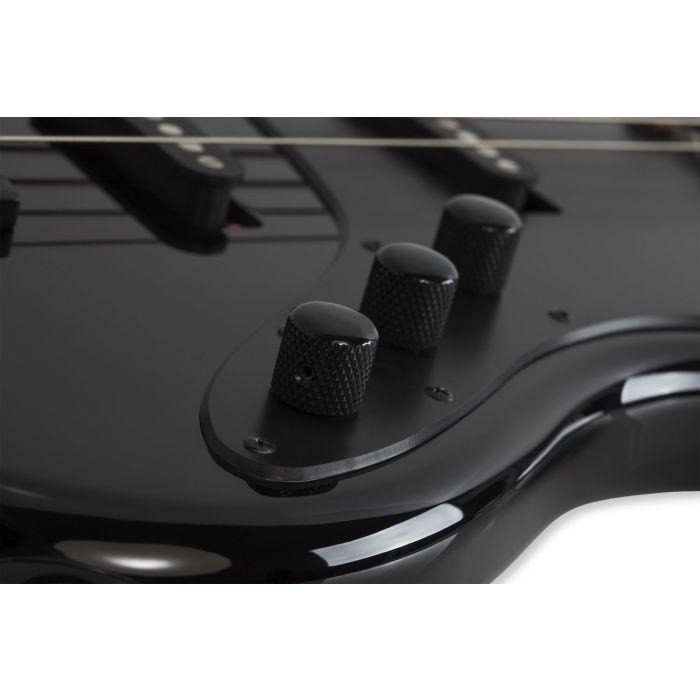 Schecter J-4 Rosewood FB Gloss Black Bass Guitar