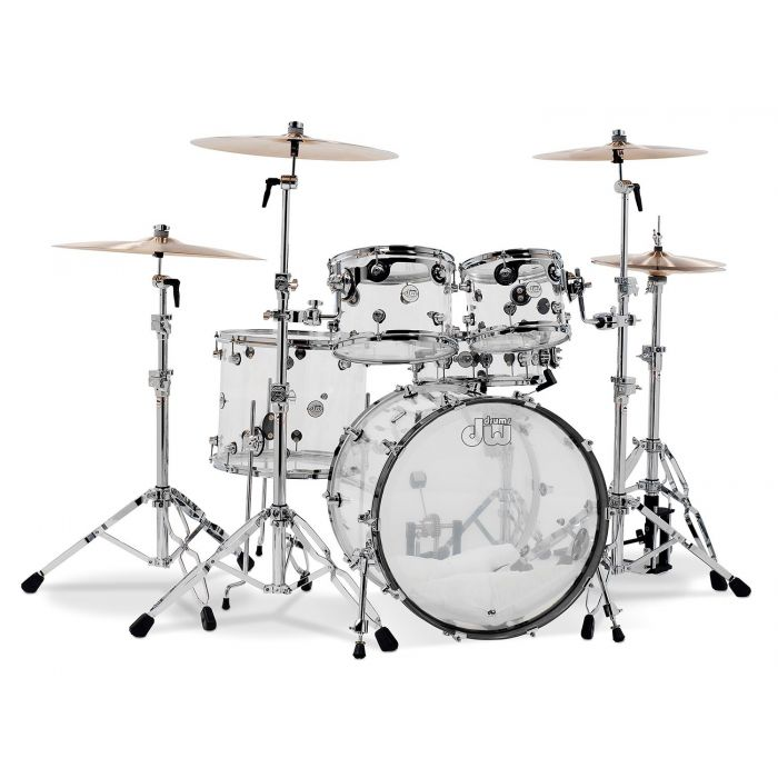 Drum Workshop Inc Design Series 5 Piece Shell Pack Clear Acrylic