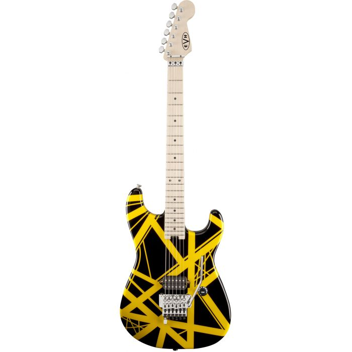 EVH ART Series Electric Guitar Black With Yellow Stripes