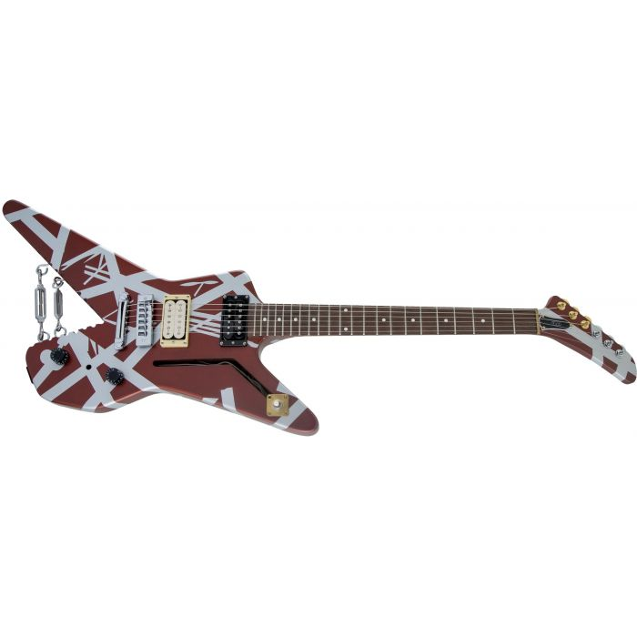EVH Striped Series Shark Electric Guitar Low Angle