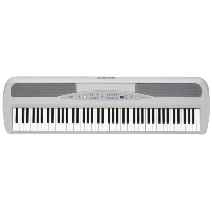 Korg SP-280 Digital Piano with Pedal and Stand in White