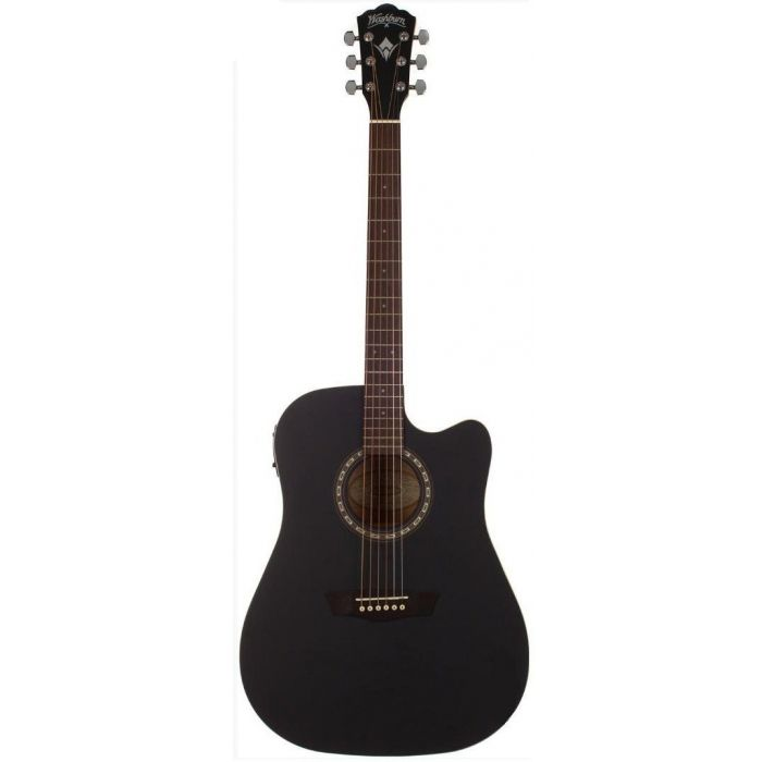 Washburn WD7SCE-B Black Harvest 7 Series PF Acoustic Guitar