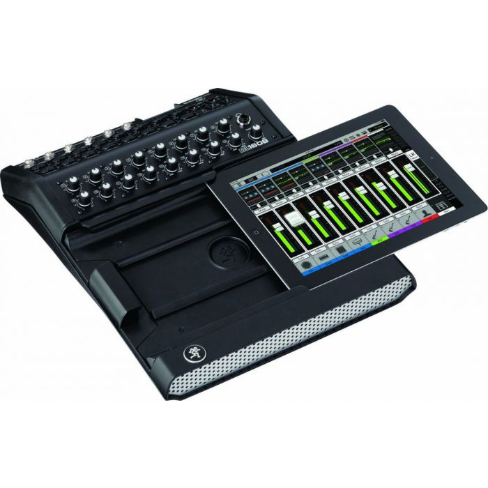 Mackie DL1608 16-Channel Digital Live Sound Mixer Lightning Slide Out Angle