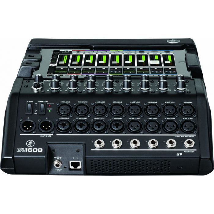 Mackie DL1608 16-Channel Digital Live Sound Mixer Lightning Connections