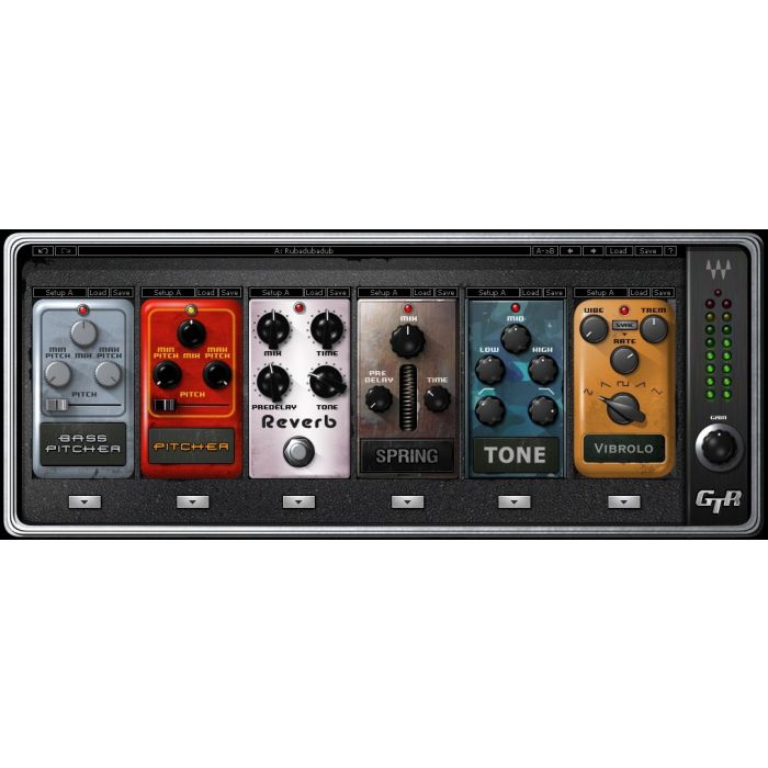 Waves Guitar Tool Rack Soundgrid (Software Only) Stomp Box Pedals
