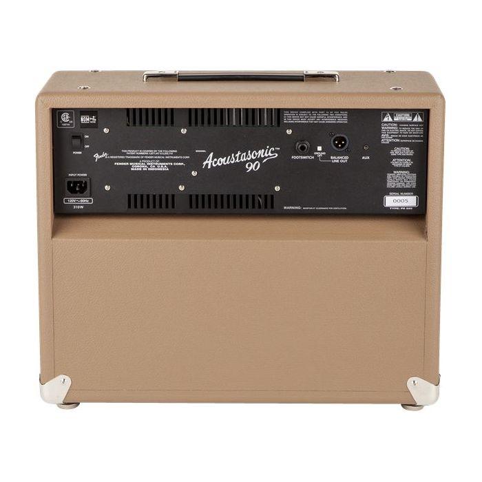 Fender Acoustasonic 90 Guitar Amplifier Combo Back