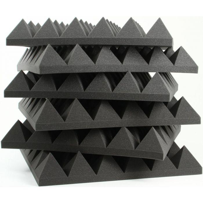 Auralex 4 Inch Studiofoam 22 Pyramids in Charcoal (6 pack)