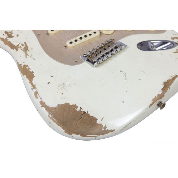 Fender Custom Shop LTD 59 Strat Heavy Relic Aged Olympic White Body Detail