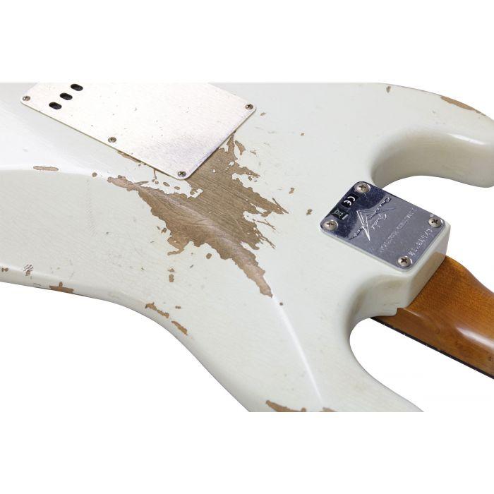 Fender Custom Shop LTD 59 Strat Heavy Relic Aged Olympic White Back Detail