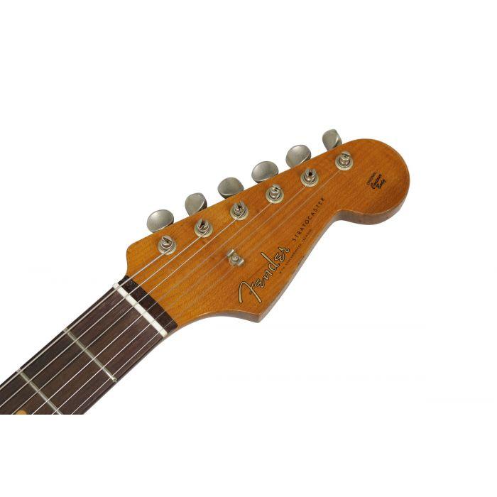 Fender Custom Shop LTD 59 Strat Heavy Relic Aged Olympic White Headstock