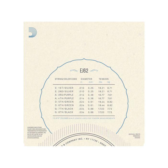 D'Addario EJ62 Light Mandolin Strings 10-34